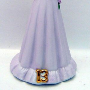 Enesco Accents - 1981 Enesco Growing Up Birthday Girls Blond Age 13
